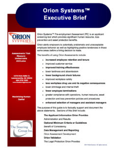 Orion Systems Executive Brief