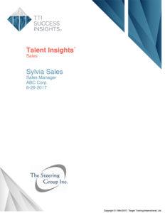 Behaviors and Motivators - Talent Insights - Sales