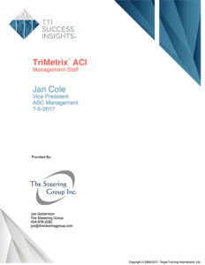 TriMetrix ACI - Management-staff